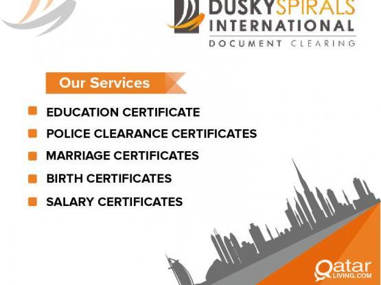 Certificate  attestation & immigration  works