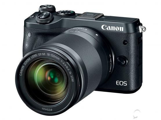New (unused) Canon EOS M6 (Black) 18-150mm f/3.5-6.3 IS STM Kit plus Mount Adapter EF-EOS M plus Canon Electronic Viewfinder EVF-DC2(Black)