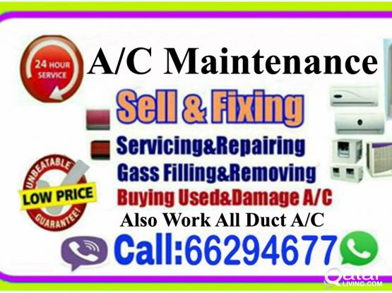 Ac service,ac clean, gass filling, used ac sale &a