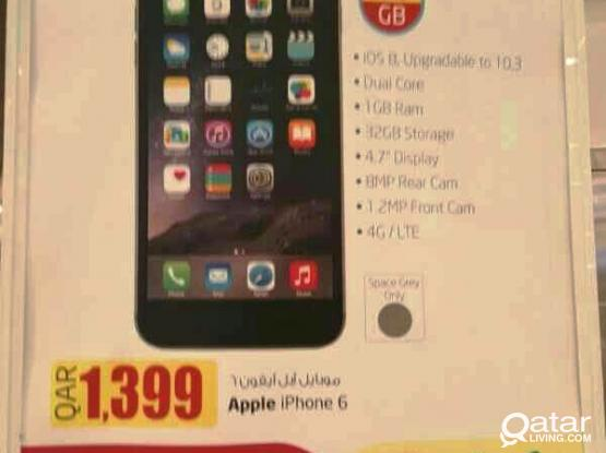 Apple Iphone6 32GB for 1399 (Best Offer by LULU)
