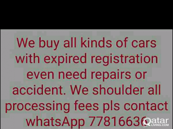buying car with expired registration