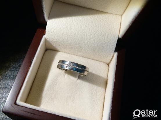 Platinum ring - size 16