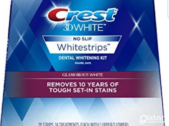CREST teeth whiteting product