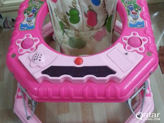 Baby walker mint condition pink colour very strong