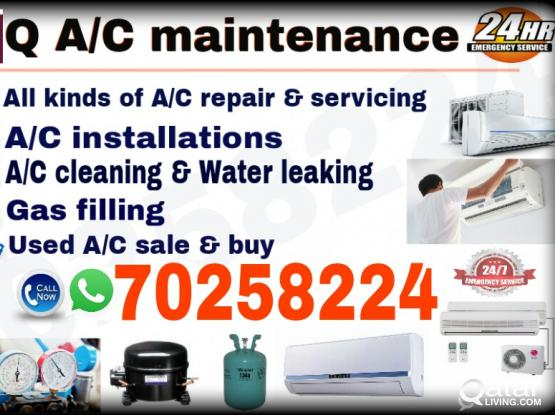 A/C maintanance,A/C instalation,Gass filling,used