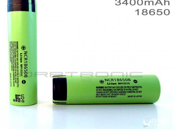 Panasonic 18650  Super Max 3.7V 3400mAh Rechargeable