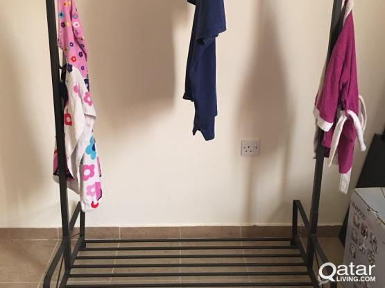 clothes and shoes stand