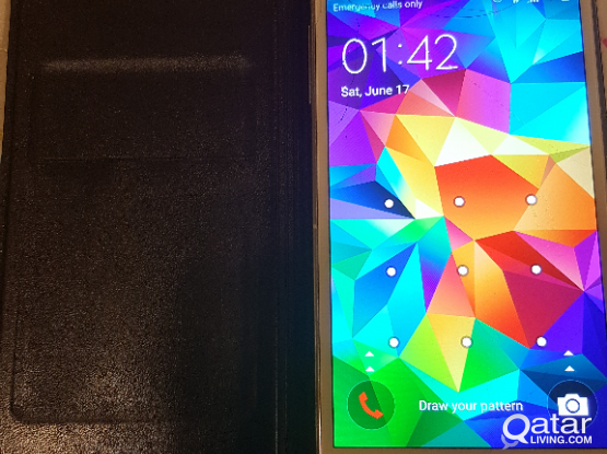 samsung galaxy s5 16gb broken screen with cover