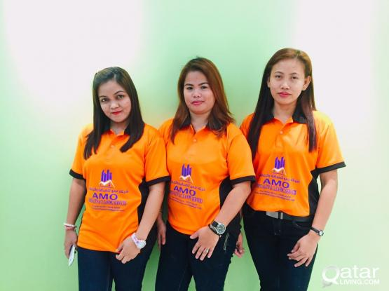 We provide female Philippine staff for Cleaning,maid service & Hospitality services