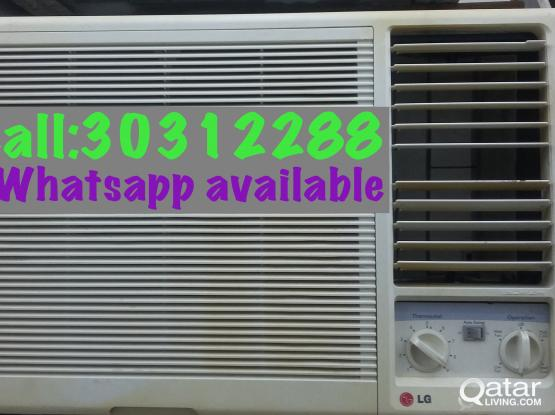 Used LG window a/c selling lowest price.call:30312
