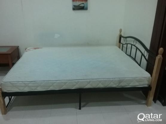 One bed with mattress