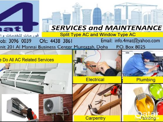 AC Repair, AIRCON Services, Electrical, Plumbing, Carpentry, Painting 30960039 / 33286450
