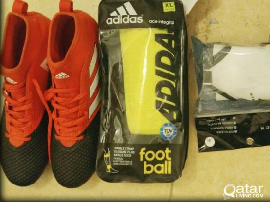 Adidas cleats (pure control) shin and ankle guard