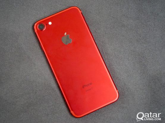 swap I phone 7 red colour 128gb warranty 10 months