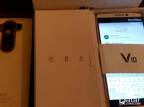 LG V10 scratchless with box/magnetic car holder