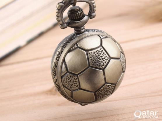 Football Bronze Pocket Watch