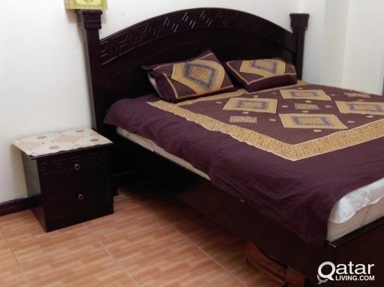Urgent sale- Queen size Bed with two side tables