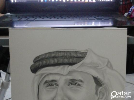 Portrait of His Highness Tamim bin Hamad Al Thani