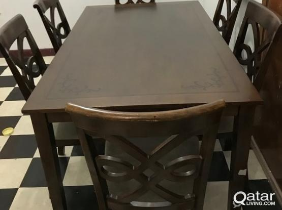 Used Dining Table Set (6 Chairs) Purchased From Home Center For 780 | Qatar  Living