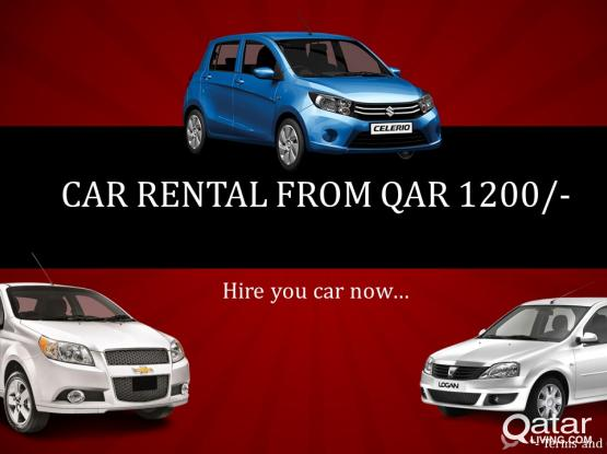 Monthly Car Rental starting from QAR 40 per day
