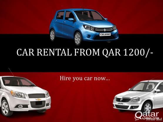 Car Rental starting from QAR 1200  Call 44911725