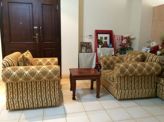 Two Single Seater Sofa with Wooden Table for Sale