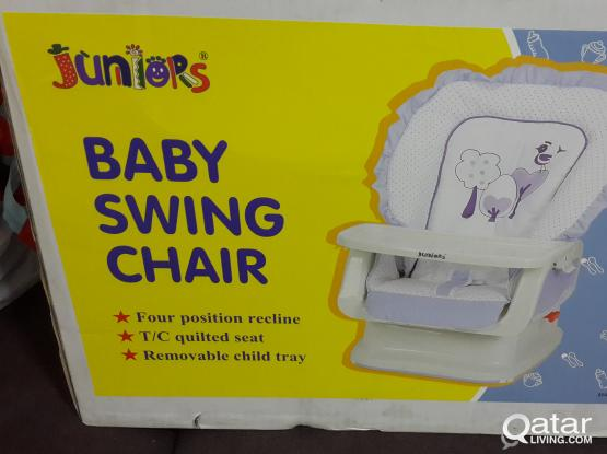 Brand new baby swing chair with 4 seating positions bought from baby shop. Brand name: jui