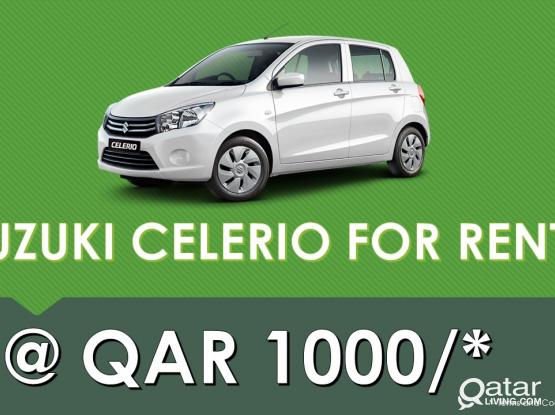 Budget Car rental from QAR 1000 only.