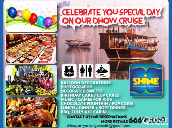 Celebrate your special occasions on Water..