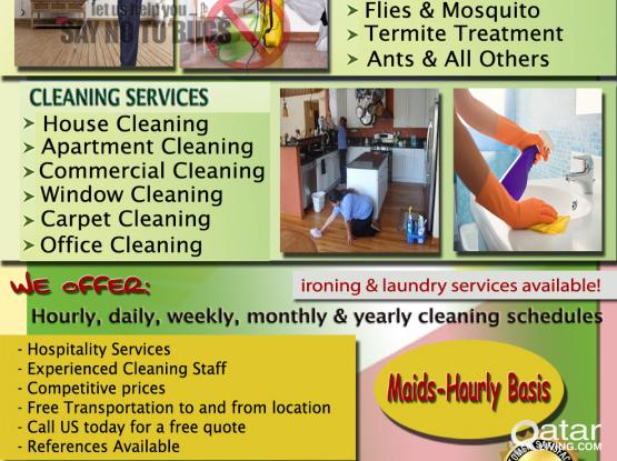 PEST CONTROL & CLEANING SERVICES (FILIPINO CLEANERS) | Qatar Living