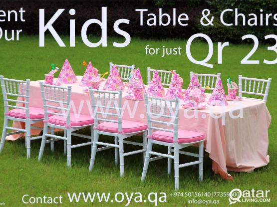 Tables and Chairs (Kids & Adults)