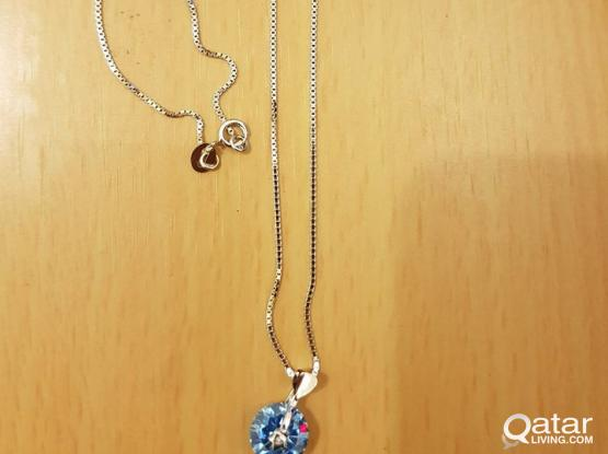 Silver Jewelry- 925 (pendant and necklace)