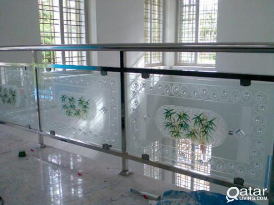 Glass Works & Aluminium works & Design experts | Glass partitions, glass Shower doors, Gla