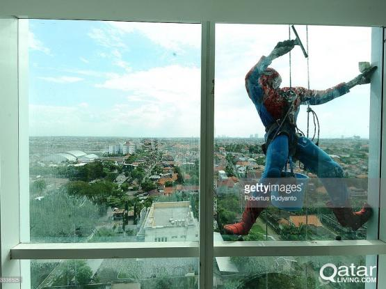 Spider Glass cleaning
