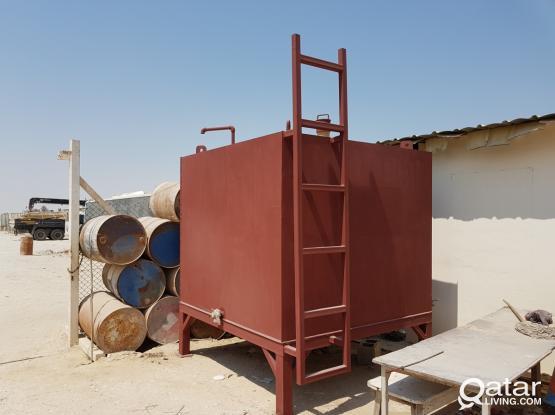 Used Steel Storage Tank 2,000 Liters x 1 Pieces