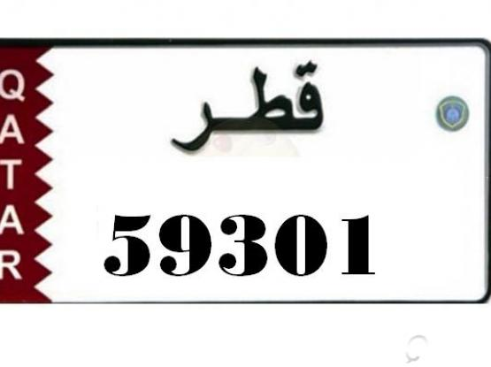 Car plate number 59301