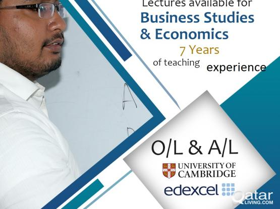 Classes For OL And AL ( Economics And Business Studies) IGSCE, CAmbridge And Eexcel)