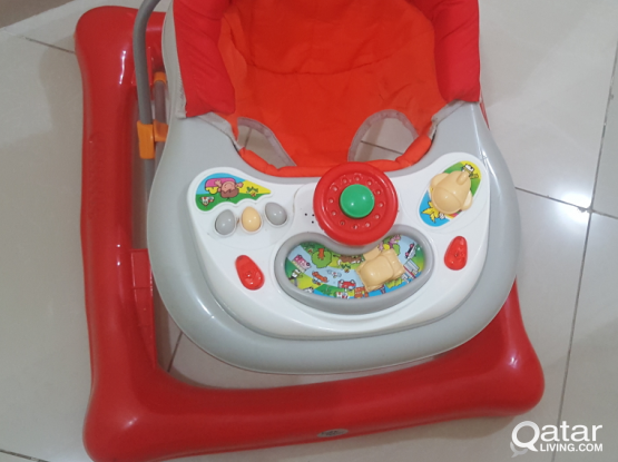 Baby walker slightly used as of new 130 qar