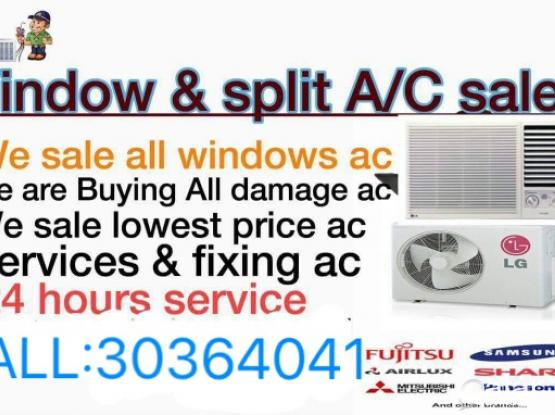 (7/24 hours) good work low price A/C Sale,services & fixing repair...