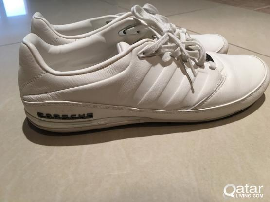 reputable site 05fca 8cfe7 SIZE 44 White Leather Adidas Porsche Design Typ 64 2.0 Shoes ...