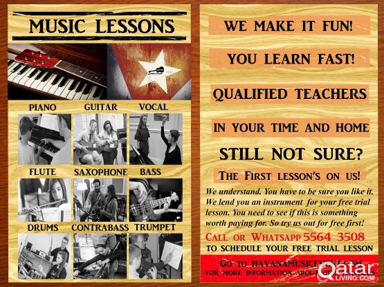 Guitar, Piano, Bass And Singing Lessons at your home. Very Qualified Teachers.