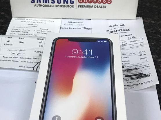 I phone x 256 gb Grey new Ali bin Ali warranty