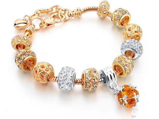 Cheap european style charm bracelet for women