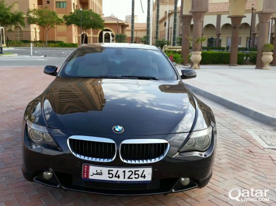 BMW 6-Series Black-Nice plate number