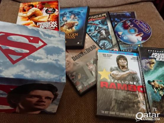 Many Movies & TV series DVDs