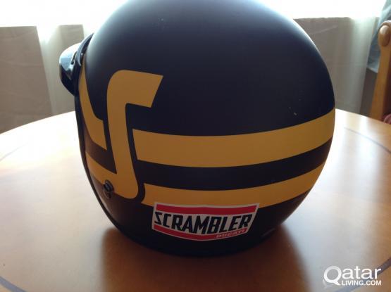 HELMET- Scrambler Ducati Short Track- Brown/Yellow