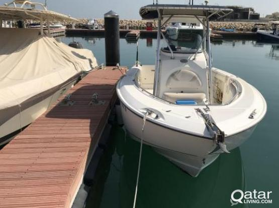 BOSTON WHALER 240 low hours  REDUCED PRICE included berth Ritz Marina paid till OCT 2019