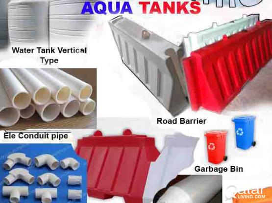 PVC WATER TANK AND PVC ROAD BARRIER