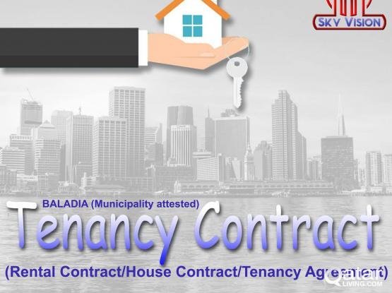 Municipality attested Rent/House/Tenancy contract for Residence/Visit visa & Medical ID