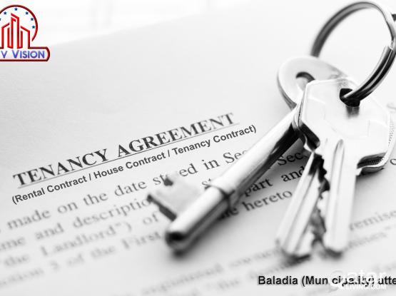 Rent/Home contract provided for Visit/Residence visa & Medical ID with Municipality attest